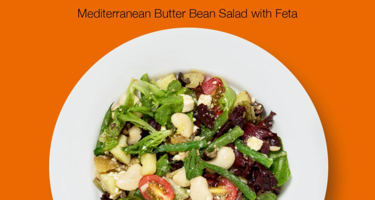 HelloFresh Mediterranean Butter Bean Salad with Feta Cheese