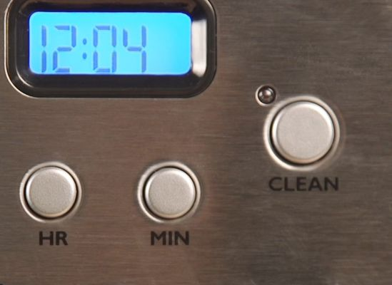 A self-clean cycle button.