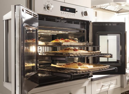 Image of an oven with French doors.