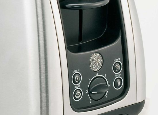Photo of convenient controls on a toaster.