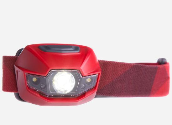 An image of a headlamp, a vital piece of equipment car drivers should have in their car to help them see during roadside emergencies at night.