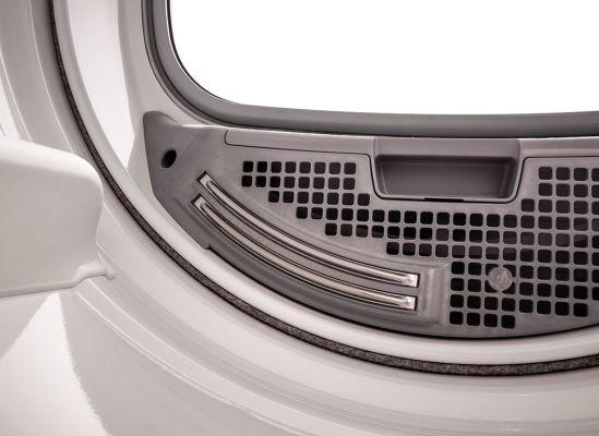 A close shot of a clothes dryer moisture sensor.