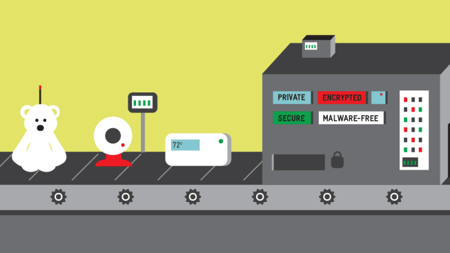 Illustration of conveyor of smart objects