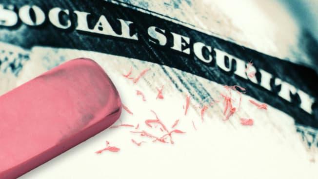 Social security card erased
