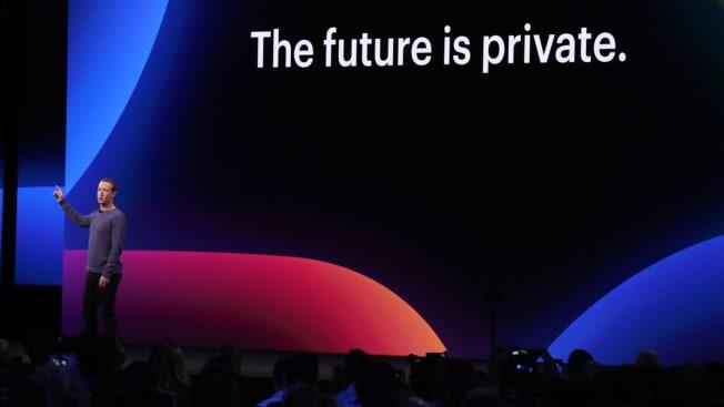 SAN JOSE, CALIFORNIA - APRIL 30: Facebook CEO Mark Zuckerberg speaks during the F8 Facebook Developers conference on April 30, 2019 in San Jose, California.