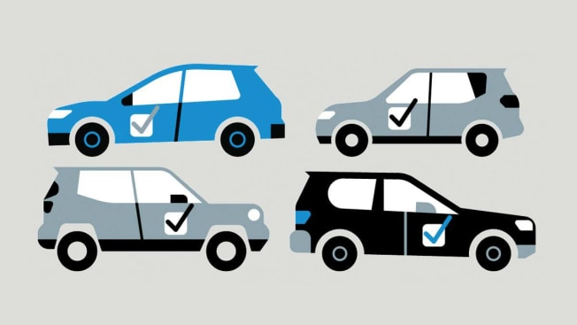 suv illustrations with check marks