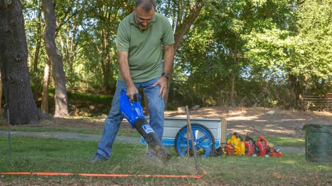 leaf blower testing