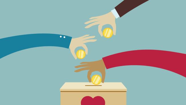 hands donating