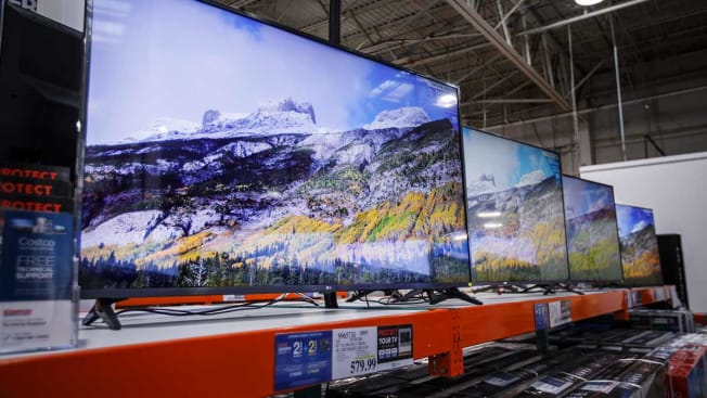 TVs for sale at CostCo