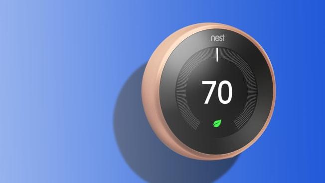 A Nest programmable thermostat