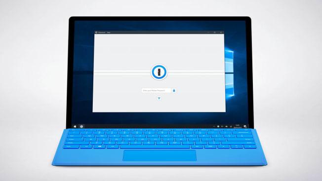 1Password app on computer screen