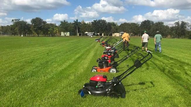 lawn mower testing