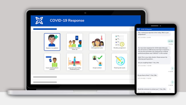 covid automated system check