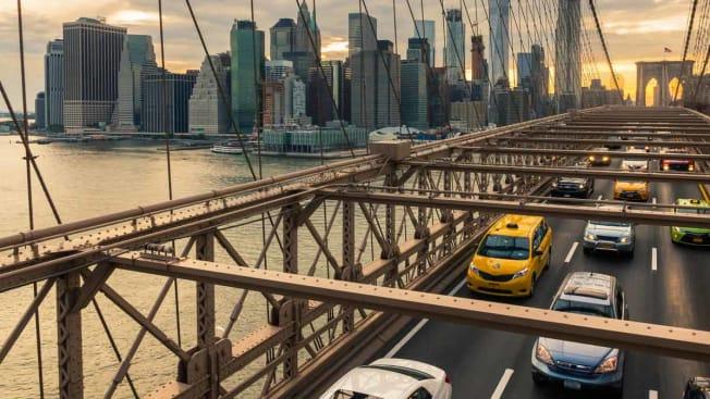 NYC Cars Brooklyn Bridge