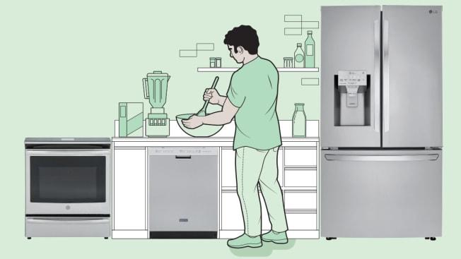 man kitchen appliances