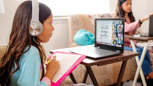 children learning from home