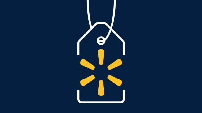 Walmart logo on a tag.
