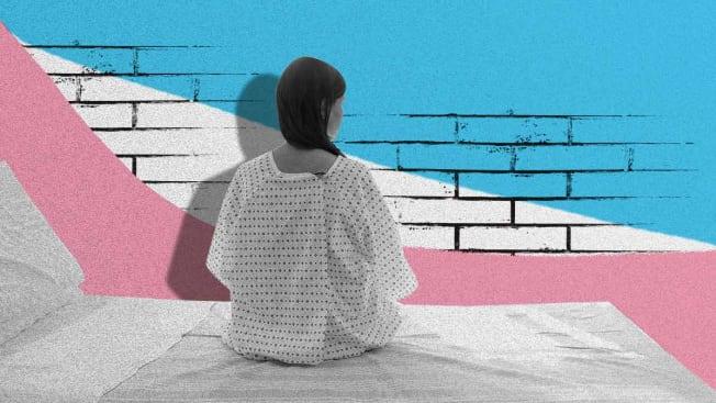 transgender person in hospital room