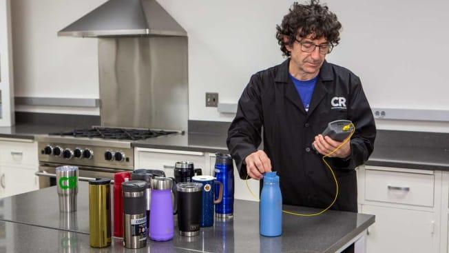 testing insulated mugs
