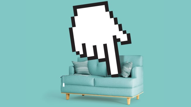 couch with mouse cursor