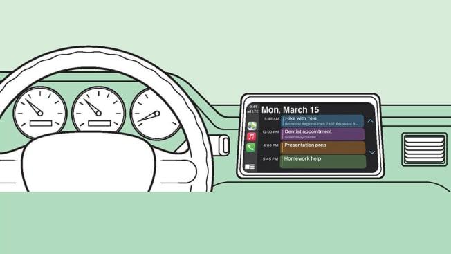 smart phone app car calendar apple