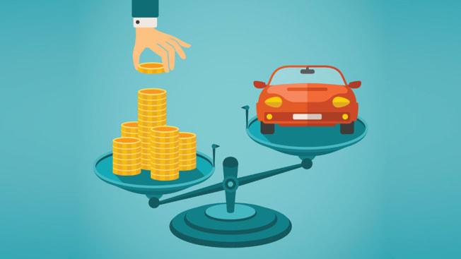 car money scale  hand