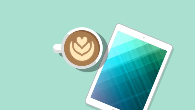 coffee and a tablet