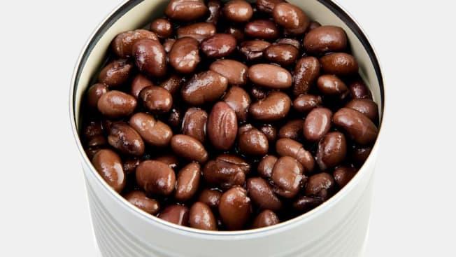 Black Beans in an aluminum can