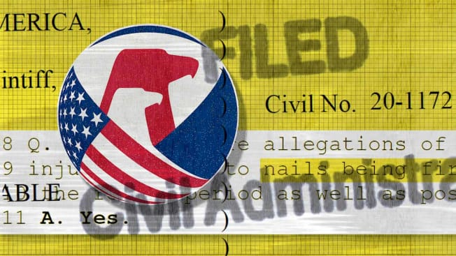 The CPSC logo layered in a collage with CPSC related lawsuits.