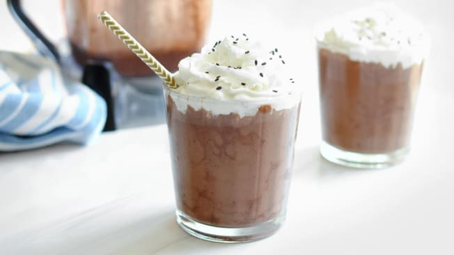 Chocolate tahini dessert smoothies