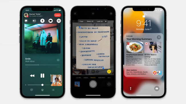 Apple Iphone iOS 15 introduces SharePlay in FaceTime, Live Text using on-device intelligence