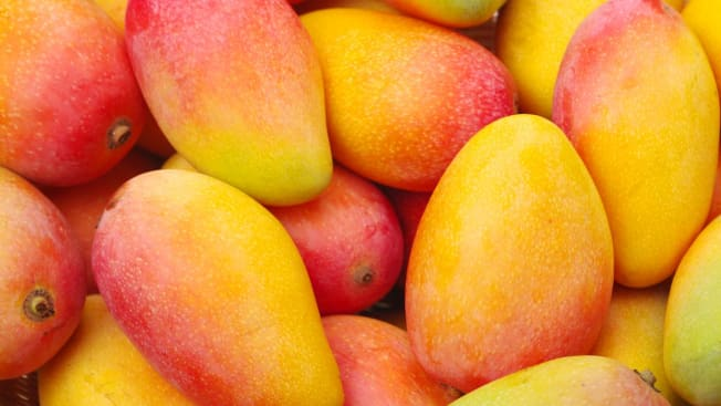 A Bunch of Whole Mangoes