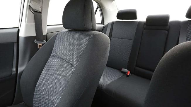 Clean car interior.