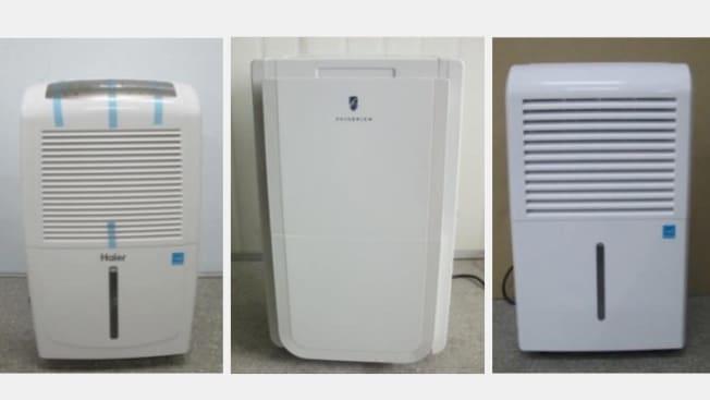 Three recalled humidifiers