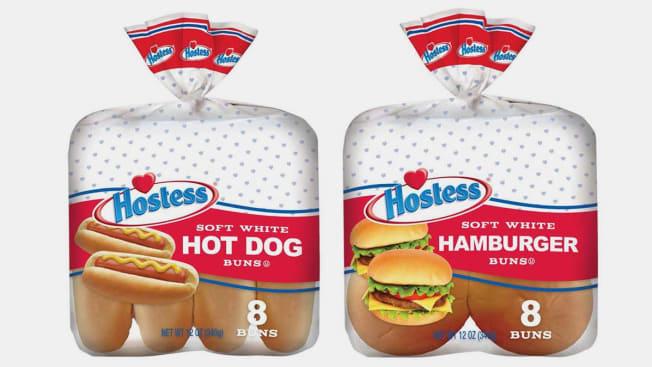 Hostess Soft White Hot Dog and Burger Buns