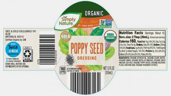 Poppyseed Dressing label