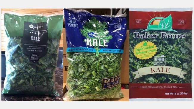 Three packages of Kale