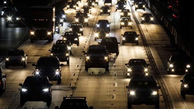 Car traffic.