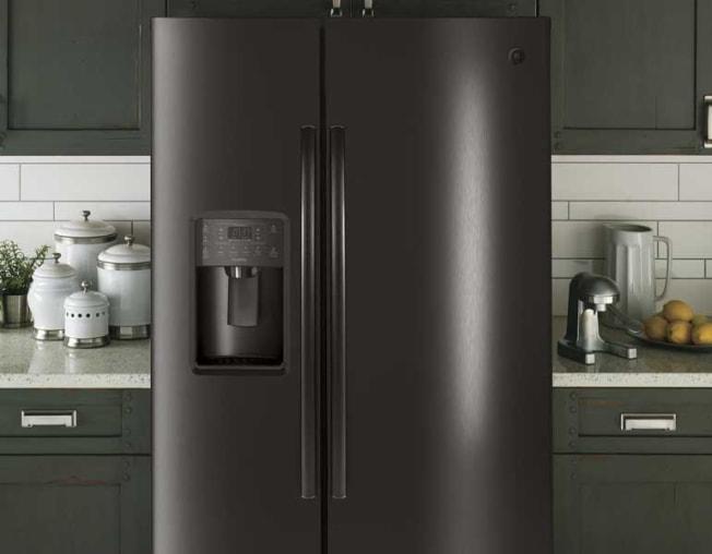 GE Profile PSE25KBLTS side-by-side refrigerator