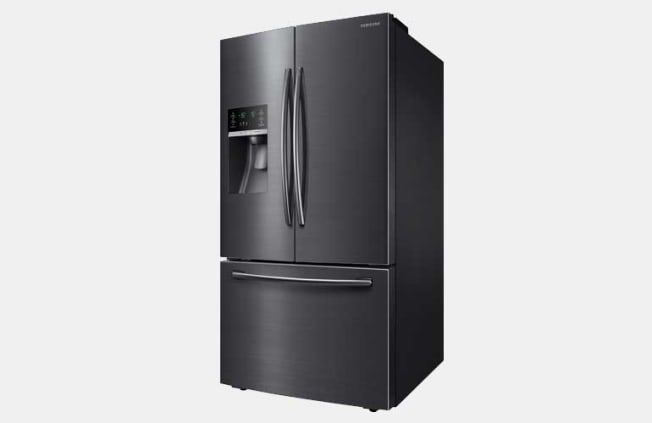 Samsung RF28HFEDBSG three-door French door refrigerator