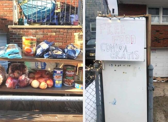 Community Fridge Greenville section of Jersey City, NJ