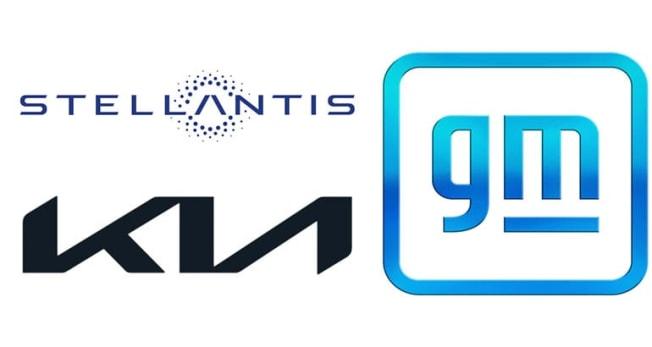 New logos from Kia, GM, Stellantis