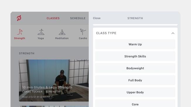 peloton workout options