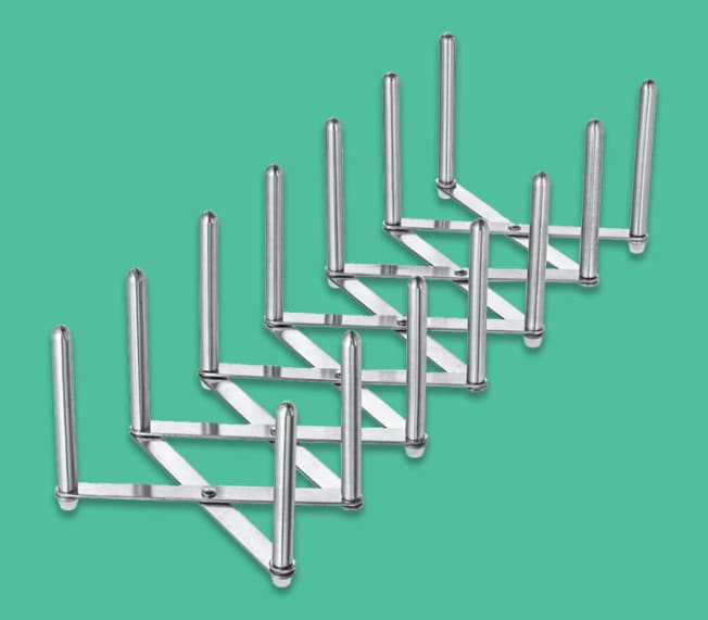 Metal accordion organizational toole