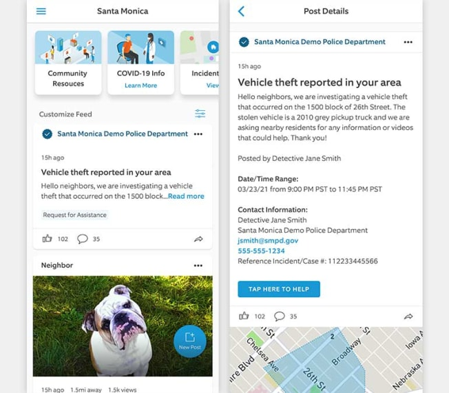 Examples of Ring's new protocol for law enforcement when requesting assistance with obtaining video in connection with alleged criminal activity.
