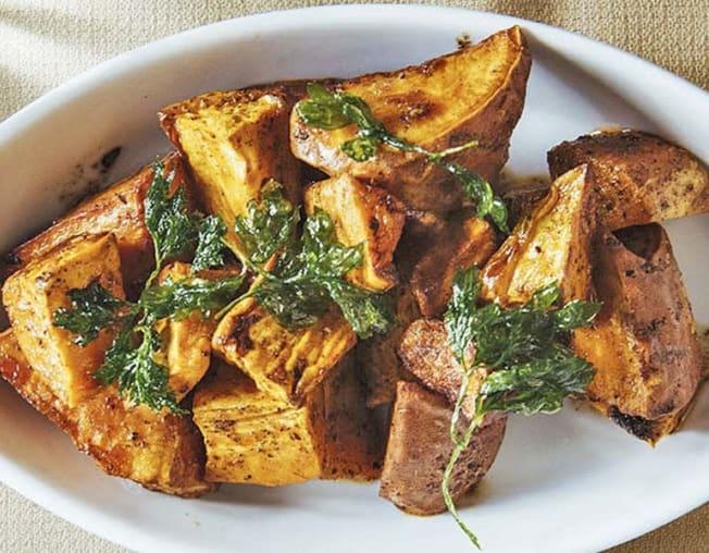 Jerk Sweet Potatoes