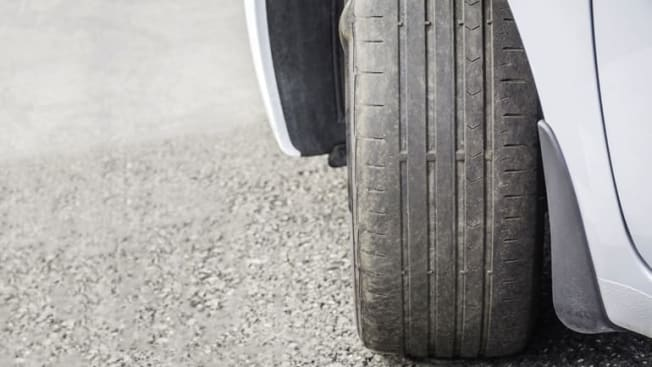 Used Car tires worn out Tire treads