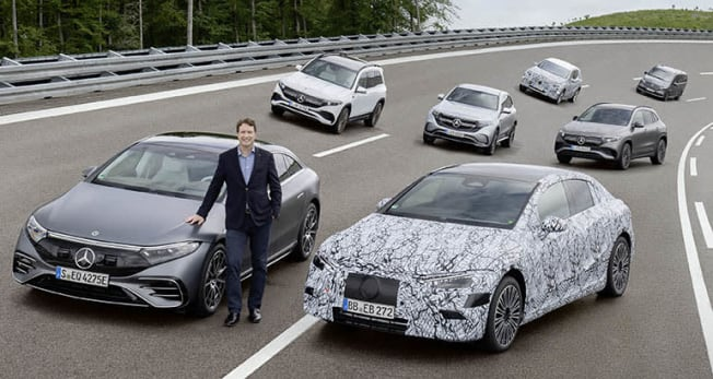 Mercedes-Benz EQ family of electric vehicles.