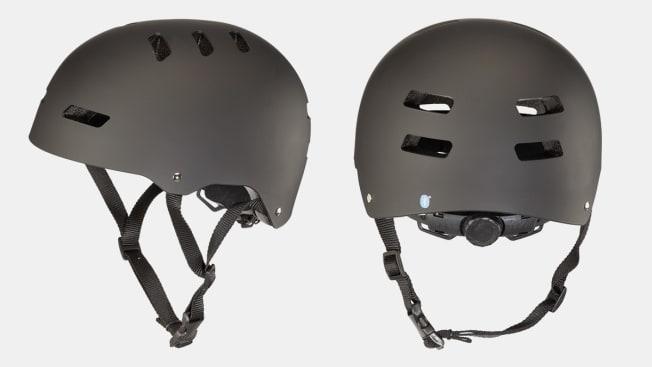 Two profile shots of the Dimensions bike helmet