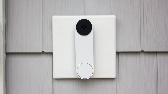 Google Nest doorbell installed